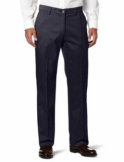 Lee Men'S Comfort Waist Custom Relaxed Fit Flat Front Pant