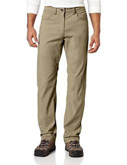 prAna Living Brion 32-Inch Inseam Pant, Dark Khaki, 38x32