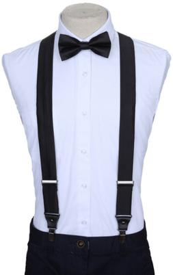 Marino Suspenders and Bow Tie Set, Dress Suspenders For Men,