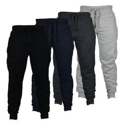 Men Casual Slim Sport Pants Chino Sportwear Joggers Trousers