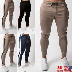 Men Casual Sport Pants Gym Slim Trousers Running Joggers Gym