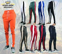 MEN HIPSTER  TECHNO TRACK  PANTS  WITH SIDE COLOR STRIPE PAN