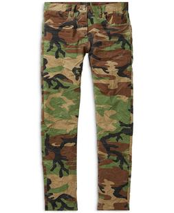 Polo Ralph Lauren Men Rugged Vintage Military Army Camo Slim