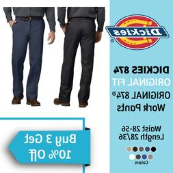 DICKIES 874 Original Fit Work Uniform School Mens Pants Trou