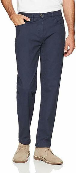 Goodthreads Men's Athletic-fit 5-Pocket Chino Pant, Navy, 32