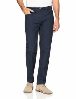 Goodthreads Men's Athletic-Fit 5-Pocket Chino Pant, Navy Blu