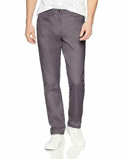 Goodthreads Men's Athletic-Fit 5-Pocket Chino Pant, Grey, 32