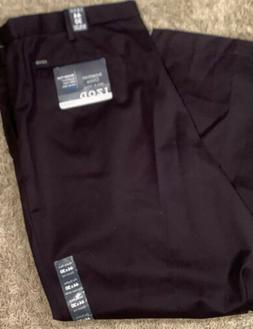 IZOD Men's Big and Tall Pleated Extended Twill Pant Khaki 44