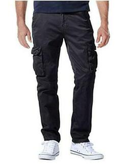 Match Men's Casual Wild Cargo Pants Outdoors Work Wear, Blac