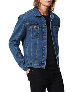 Calvin Klein Men's Denim Trucket Jacket, Medium, Small