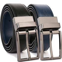 "Beltox Fine Men's Dress Belt Leather Reversible 1.25"" Wide R"