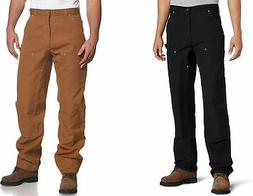 Carhartt Men's Firm Duck Double-Front Work Dungaree Pants