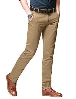 Match Men's Fit Tapered Stretchy Casual Pants 32W x 31L 8106