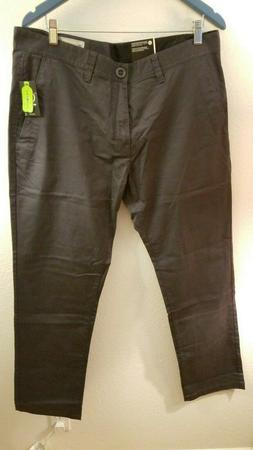 Volcom Men's Frickin Modern Fit Stretch Chino Pant, Charcoal