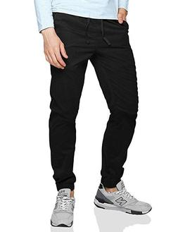 Match Men's Loose Fit Chino Washed Jogger Pant 32 6535 Black
