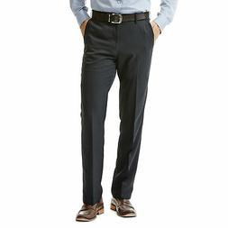 Haggar Men's Performance Microfiber Flat Front Pant Straight