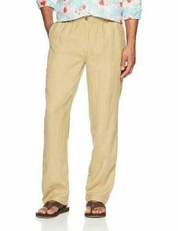 28 Palms Men's Relaxed-Fit 100% Linen Pant with Drawstring,T