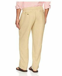 28 Palms Men's Relaxed-Fit 100% Linen Pant with Drawstring -