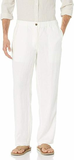 28 Palms Men's Relaxed-Fit 100% Linen Pant with Drawstring,