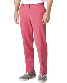 IZOD Men's Saltwater RED Stretch Chino Pants NWT Flat Front