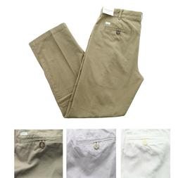 IZOD Saltwater Pants Men's Flat Front Straight Fit Chino Kha