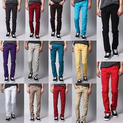 Victorious Men's Skinny Fit Jeans Stretch Colored Pants   DL