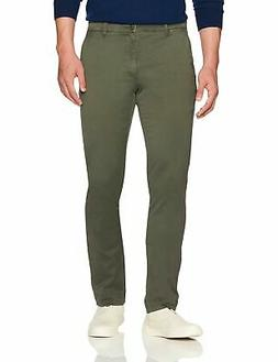 Goodthreads Men's Slim-Fit Washed Chino Pant Olive 40W x 34L