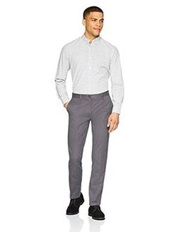 Amazon Essentials Men's Slim-Fit Wrinkle-Resistant Flat-Fron