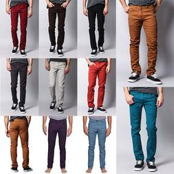 Victorious Men's Spandex Color Skinny Jeans Stretch Colored