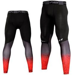 Men's Sport Running Long Pants Gym Compression Tights Quick