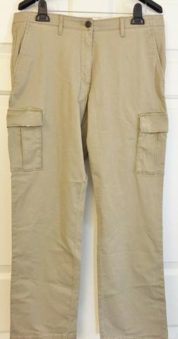 Goodthreads Men's Straight-Fit Distressed Cargo Pants Khaki