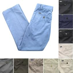 IZOD Men's Straight Fit Flat Front 4 Pocket Wrinkle Resistan
