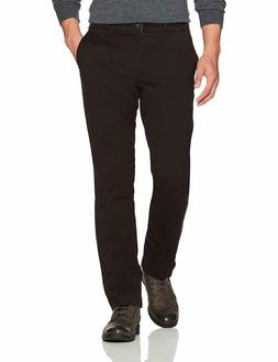 Goodthreads Men's Straight-Fit Washed Stretch Chino Pant Bla
