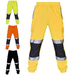Men's Trousers Safety Work Clothes With Reflective Stripe An