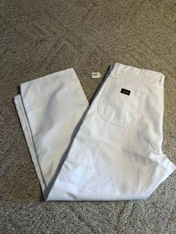 Dickies Men's Utility Painter's Pants White Relaxed Fit 42 X