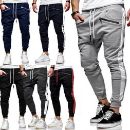 Men Track Pants Skinny Casual Sports Jogging Bottoms Joggers