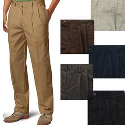 IZOD Mens American Heritage Chino Pleated Front Straight Fit