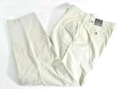 Nautica Mens Beacon Pant 32 x 30 New Ivory Tailored Fit Chin