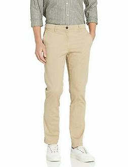 Goodthreads Mens Beige Size 33X32 Slim Fit Perfect Chino Pan
