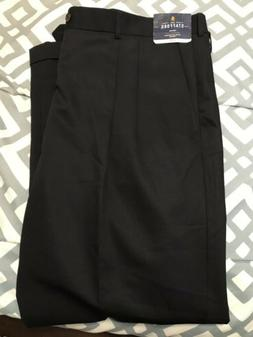 Stafford Mens Big Tall Dress Pants 44x32 Black Men's Pants