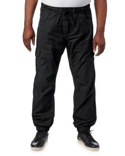 IZOD Mens Black Jersey Lined Straight Fit Jogger Pants NWT $
