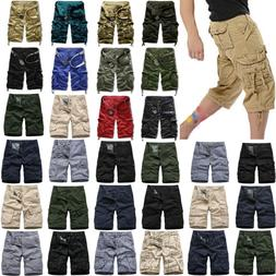 Mens Casual Camo Shorts Combat Short Pants Military Army Car