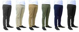 Mens Chino Pants Cotton Stretch Comfort Fit 5 Pockets