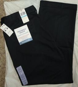 DOCKERS Mens COMFORT RELAXED-FIT NAVY PLEATED KHAKIS~Size 36