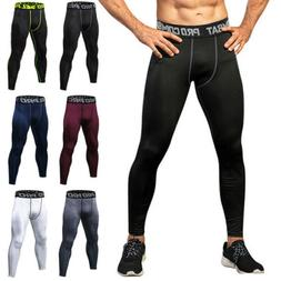 Mens Compression Pants Base Layer Long Leggings Training Wor