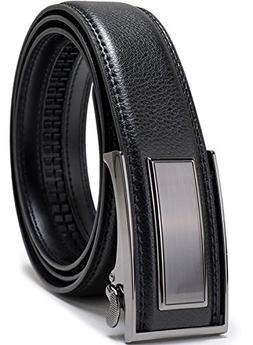Beltox Fine Men's Dress Leather Ratchet Belt with Nickel-f