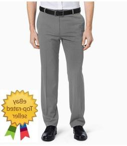 Van Heusen Mens Dress Pants Flex Stretch Straight Flat size