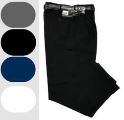 Mens Dress Pants - Pleated Slacks W/ Belt - Trousers - Sizes