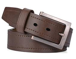 Marino Avenue Men's Genuine Leather Belt, Classic Jean Sty