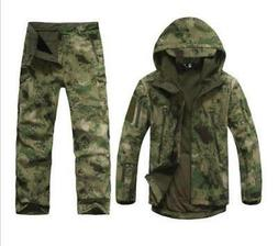 Mens Hunting Camouflage Clothing Waterproof Windproof Hooded